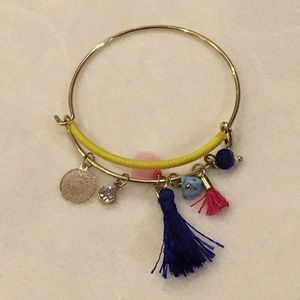 Alex and Ani Jewelry - Alex & Ani bangle bracelet w/ charms